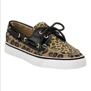Sperry Leopard Print Topsiders